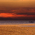 Sunset At The Sea by Rico Besserdich
