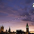 Sunset Behind Big Ben And The Houses by Axiom Photographic