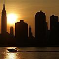 Sunset Boat by Edward Betz