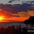 Sunset By The Beach by Davandra Cribbie
