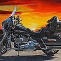 Sunset Electraglide by Robert Gray