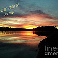 Sunset Forever My Love by Donna Brown