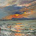 Sunset In Aegean Sea by Ylli Haruni