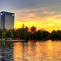 Sunset In Hermann Park by David Morefield