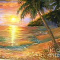 Sunset In The Tropics by Mary Lou Meyer