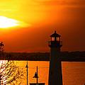 Sunset Lighthouse by M K  Miller