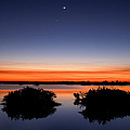 Sunset Moon Venus by Rich Franco