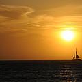 Sunset On Aruba 1 by David Van Zet