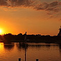 Sunset On Cape Fear by Lisa McLean Adams