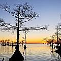 Sunset On Lake Mattamuskeet by Rob Travis