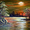 Sunset On Lake Windsor by Fram Cama
