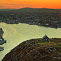 Sunset On St. John's Harbour by Phill Doherty