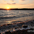 Sunset On The Bay Of Fundy by Ted Kinsman