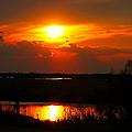 Sunset On The Bayou by John Blanchard