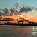 Sunset On The Mississippi  by Lydia Holly