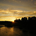 Sunset On The Rogue River by Mick Anderson