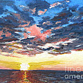 Sunset Over Green Bay by Judith Reidy