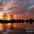 Sunset Over Lake At Finley by Nadine Kelly