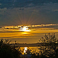 Sunset Over Steilacoom Bay by Tikvah's Hope