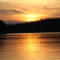 Sunset Over The Connecticut River by David Dinsdale