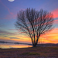 Sunset Over The Lake by Jim And Emily Bush
