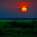 Sunset Over The Marsh by Richard Marquardt