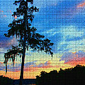 Sunset Over The Suwanee Mosaic by Barbara Bowen
