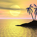 Sunset Palm Trees by Phil Perkins