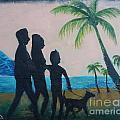 Sunset Palms by Monika Shepherdson