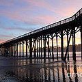Sunset Pier San Simeon California 2 by Bob Christopher