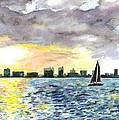 Sunset Sail by Clara Sue Beym