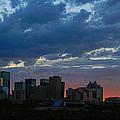 Sunset Skyline Edmonton by David Kleinsasser