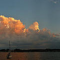 Sunset Storm Clouds Panorama by Tim Nyberg