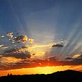 Sunset Sun Rays by Lynn Bauer