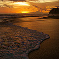 Sunset Surf Playa Hermosa Costa Rica by Michelle Wiarda