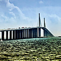 Sunshine Skyway Bridge - Tampa Bay by Bill Cannon