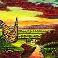 Sunshine Traveler-monarch by Michael Frank