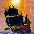 Sunship Galleon On Wood by Duane McCullough