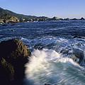 Surf Pounds And Swirls Around Bird Rock by Rich Reid
