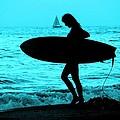 Surfs Up Blue by Corey Maki