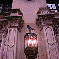 Surreal Raven Gothic Lantern On Building by Kathy Fornal