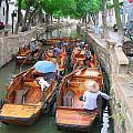 Suzhou Canal Traffic Jam by Robert M Brown II