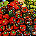 Sweet Red Peppers by Mary Machare