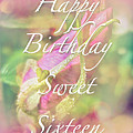 Sweet Sixteen Birthday Greeting Card - Rosebud by Mother Nature
