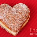 Sweet Valentine Love - heart-shaped jam-filled donut