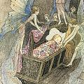 Sweetly Singing Round About They Bed by Warwick Goble