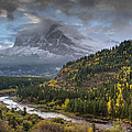 Swiftcurrent River Overlook by Mark Kiver