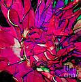 Swirly Fabric Flower by Judi Bagwell
