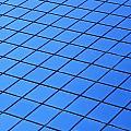 Symmetrical Pattern Of Blue Squares by David Chapman