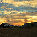 Table Rock Sunset And Barn by Mick Anderson